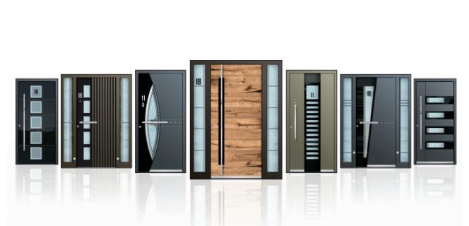 Pestra izbira aluminijastih vhodnih vrat