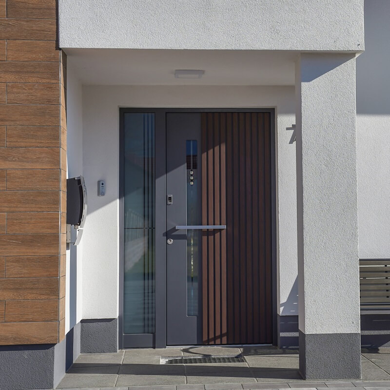 Moderna vhodna vrata s 3D efektom