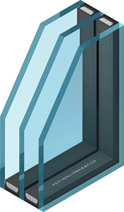 3-slojno steklo Inotherm