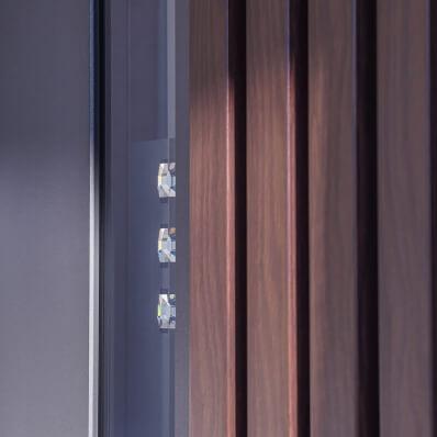 Swarovski kristali v steklu alu vhodnih vrat