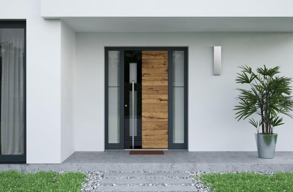 Stilsko dovršena in kakovostna vhodna vrata INOTHERM